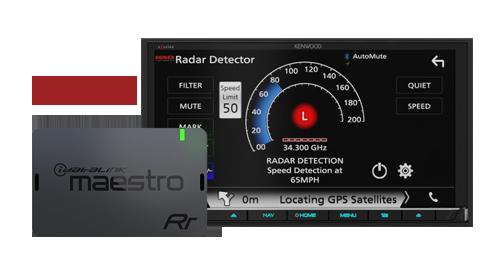 Maestro + K40 Radar Detectors
